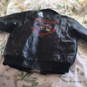 Vintage Harley Davidson Leather Biker Jacket